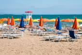 Sunny Beach in Lignano Sabbiadoro — Stock Photo