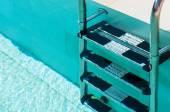 Swimmimg Pool Ladder Closeup — Fotografia Stock