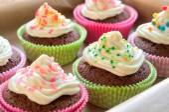 Colourful Chocolate Cupcakes — Stock Photo