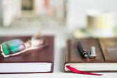 Office Desk Blurred Background — Stock Photo