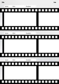 Storyboard film template vertical — Stock Vector