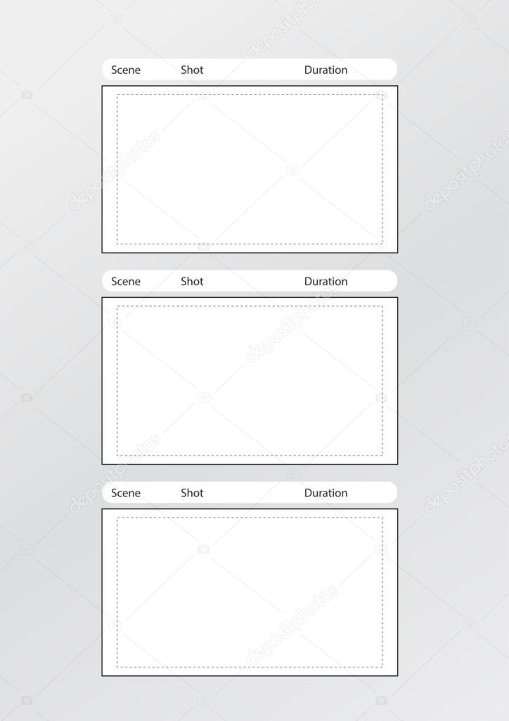 Storyboard Template Vertical X3 Center — Stock Vector © Realcg