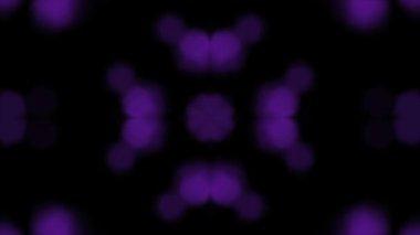 Bokeh púrpura brilla Kaleida — Vídeo de Stock