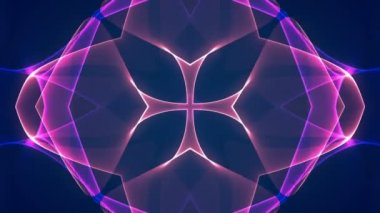Blue and purple mix graphic kaleidoscope — Stock Video
