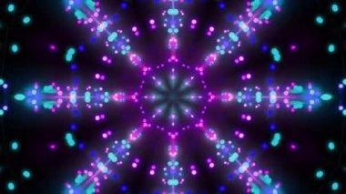 Disco background kaleidoscope effect — Stock Video