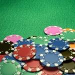 Casino chips show hand — Stock Photo #71340275