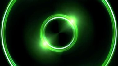 Green Lens ring flares double circle HD — Stock Video