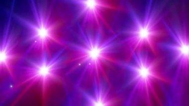Star glow red pattern — Stock Video