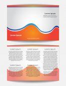Brochure Design Vector Template — Stock Vector