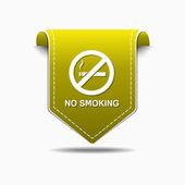 No Smoking Sign Icon Design — Stock Vector