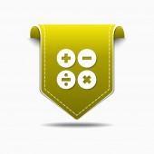 Mathematical Sign Icon Design — Vector de stock
