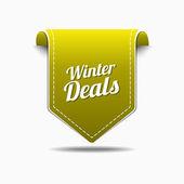 Winter Deals Icon Design — Stock Vector