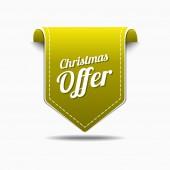 Christmas Offer Icon Design — Stock Vector