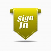 Sign In Icon Design — Stock Vector