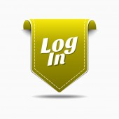 Log In Icon Design — Stock Vector