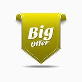 Big Offer Icon Design — Stock Vector