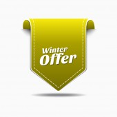 Winter Offer Icon Design — Stock Vector
