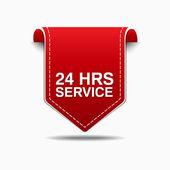 Disegno dell'icona di servizio 24 ore — Vettoriale Stock