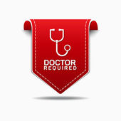 Doctor Required Icon Design — Stock Vector