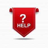Hilfe icondesign — Stockvektor
