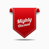 Mighty Discount Icon Design — Stock Vector