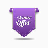 Winter Offer Icon Design — Stock Vector