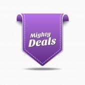 Mighty Deals Icon Design — Stock Vector