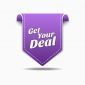 Get Your Deal Icon Design — Stock Vector
