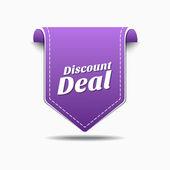Discount Deal Icon Design — Vector de stock