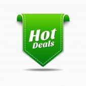 Hot Deals Icon Design — Stock Vector