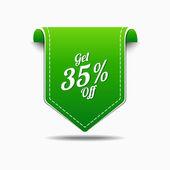 Get 35 percent Icon Design — Stock Vector