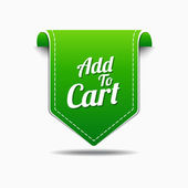 Add To Cart Icon Design — Stock Vector
