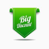 Big Discount Icon Design — Stock Vector