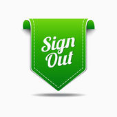 Sign Out Icon Design — Stock Vector