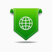 Globe Sign Icon Design — Stock Vector