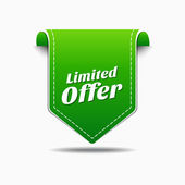 Limited Time Offer Icon Design — Stock Vector