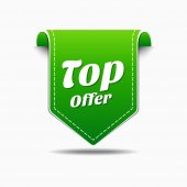 Top Offer Icon Design — Stock Vector