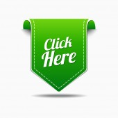 Click Here Icon Design — Stock Vector