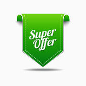 Super Offer Icon Design — Stock Vector