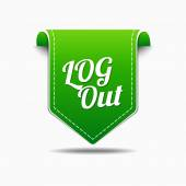 Log Out Icon Design — Stock Vector