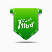 1 Month Deal Icon Design — Stock Vector