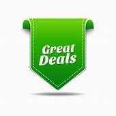 Great Deals Icon Design — Stock Vector