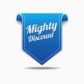 Mighty DiscountIcon Design — Stock Vector