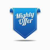 Mighty Offer Icon Design — Stock Vector