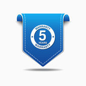 5 Years Warranty Icon Design — Stock Vector