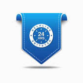 24 Hours Helpline Support Icon — Stock Vector