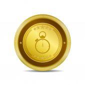 Stop Watch Icon Button — Stock Vector