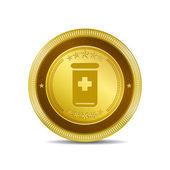 Health Kit Icon Button — Stock Vector