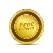 Free Delivery Icon Button — Stock Vector