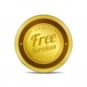 Free Services Icon Button — Stock Vector
